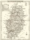 NOTTINGHAMSHIRE: County map. Polling places. Coach roads. DUGDALE,1845
